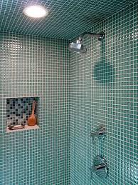 bathroom glass tile shower. klopf architecture - glass tile shower modern-bathroom bathroom l