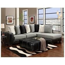 Living Room Black Leather Sofa Furniture Accessories Contemporary Design Of Accent Pillows For