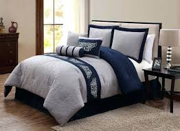 Blue And Gray Quilt Pattern Navy Blue And Grey forter Set More