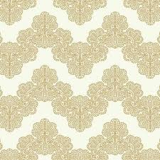 Airwaves Wallpaper in Gold and White by York Wallcoverings ...