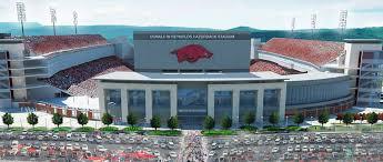 Razorback Football Stadium Seating Chart University Of Arkansas Donald W Reynolds Razorback Stadium
