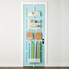 White elfa utility Gift Wrap Door & Wall Rack