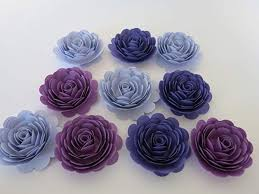 Flower Made In Paper Purple Ombre Roses Set Of 10 Handmade Paper Flowers Shades Of Purple 3 Inch Roses Tea Party Table Centerpiece Wedding Decorations Bridal Shower