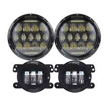 Lx Light 7 Lx Light 7 Black 75w Led Driving Headlights With Drl 4