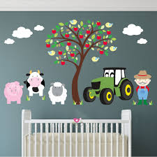 farm animal and tractor wall stickers neutral