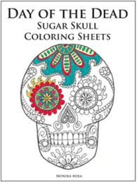 Small Picture Day of the Dead and Life sized skeleton Coloring Sheets