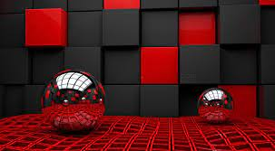 3d Wallpaper Red And Black