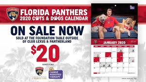 Florida Panthers Foundation Cats Dogs Calendar Now On Sale