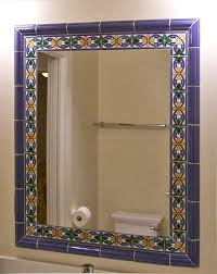 bathroom mirror frame tile. Exellent Tile Tile Framed Mirror Mediterraneanbathroom And Bathroom Mirror Frame E