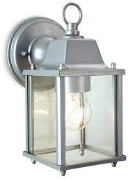 outdoor suspended wall lantern silver
