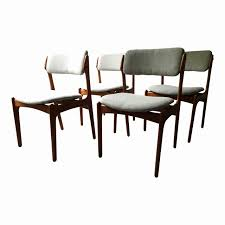 upholstered dining end chairs elegant vine erik buck o d mobler danish dining chairs set of 4