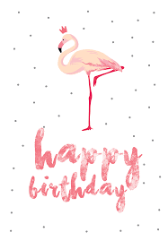 Flamingo Birthday Free Printable Birthday Card Greetings