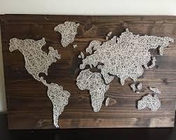 Custom Made to Order World Map String Art