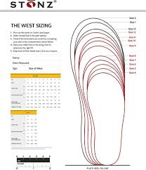 Size Charts Stonz Baby And Childrens Footwear