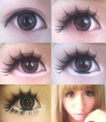 eye make up tutorial for female anime cosplay big round eyes for anime