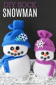easy diy sock snowman craft