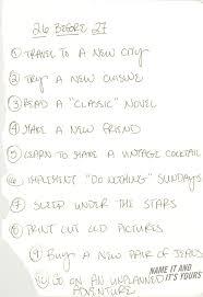 Love Lists Birthday Goals List A Small Life