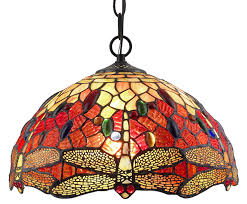amora lighting am1034hl14 style stained glass hanging lamp ceiling fixture com