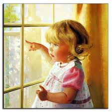 classic baby girl oil painting on canvas wall art picture terranean style portrait wall paintings unframed