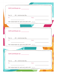 Blank Printable Gift Certificates Edit Fill Sign Online Handypdf