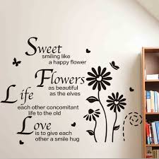 Sweet Quotes About Life And Love New Sweet Flowers Life Love Wall Stickers Quotes Little Daisy Flower