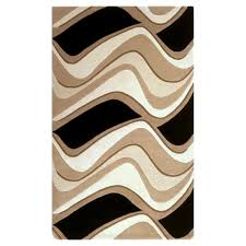 kas rugs abstract waves black beige 5 ft x 8 ft area rug