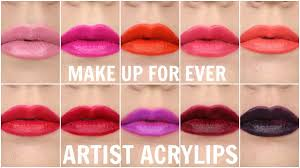 new make up for ever artist acrylips swatches review you