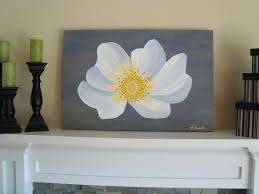 wall art fascinating grey and yellow wall art yellow and gray pictures white flower