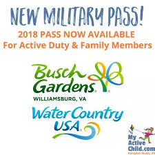 new military pass for busch gardens and water country usa plus a may 2018 for first responders
