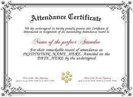 free perfect attendance certificate certificates office com copy certificate of attendance sample text