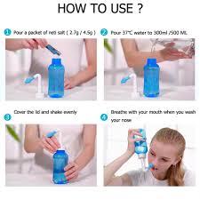 neti pot kit 300ml 30 packets nasal salt wash bottle nasal sinus rinse kit 6356946233403