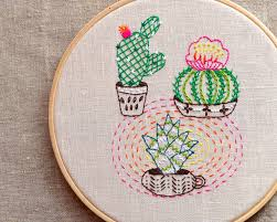Cactus Embroidery Pattern New Decorating