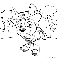 Jungle Pup Tracker Paw Patrol Coloring Pages Printable