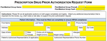 Free Medicaid Prior Prescription (Rx) Authorization Form - Pdf