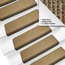 Die stufenmatte besteht aus einer robusten schlinge, sowie einem kunststoffwinkel für die leichte montage. Pure Nature Sisal Stufenmatten Farbe Wahlbar Rechteckig Treppenmatten Stufenmatten Treppe Sisal