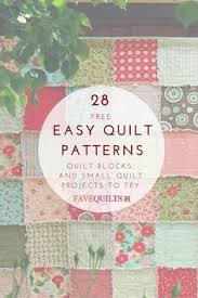 20 Easy Quilt Patterns for Beginners   Easy quilt patterns, Easy ... & 28 Easy Quilt Patterns: Free Quilt Patterns, Quilt Blocks, and Small Quilt  Projects to Try Adamdwight.com
