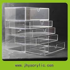 high quality clear clear makeup organizer acrylic clear cube makeup organizer drawer display with 5drawers