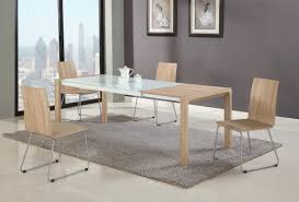 Modern Glass Kitchen Tables Furniture Modern Glass Dining Table With Wood Base 1024x781