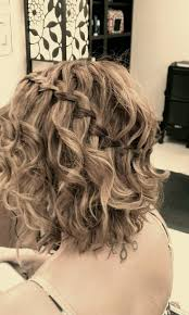 waterfall braid for short curly hair prom short hairstyle ideas