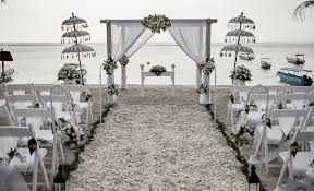lembongan beach club wedding set up