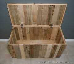 pallet storage ideas. view larger. recycled pallet storage box ideas