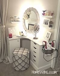 diy corner makeup vanity. Best Ideas For Makeup Tutorials : 21 Vanity Table Designs See That Are Super El Diy Corner T