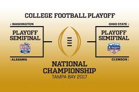 2016 17 College Football Playoff Semifinal Pairings Announced