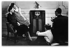 Image result for gathered around radio