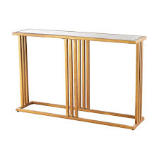 gold console table. Gold Leaf Metal \u0026 Mirror Console Table. Add Table