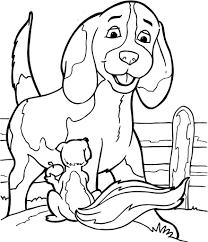 Honden En Poezen Kleurplaten Regarding Kleurplaat Dieren Hond
