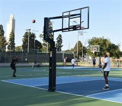 Get a bounce and cushion similar to hardwood in the comfort of your own backyard! Veterans Memorial Park Basketball Court Replacement Project City Of Culver City