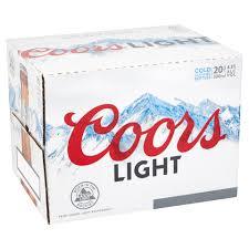 20 Bottles Of Coors Light Coors Light Bottle Pack 20x330ml Centra