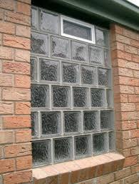 mulia toba glass bricks laid in half bond pattern with ventilation window