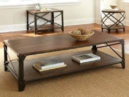 metal coffee table sets the rustic iron coffee table for marvelous creative of rustic wood and throughout round wood and metal coffee table decor metal